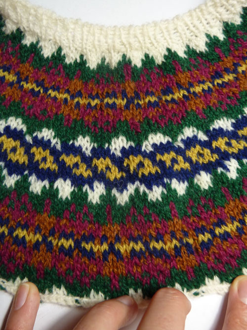 Jocosa jumper fair isle knitting
