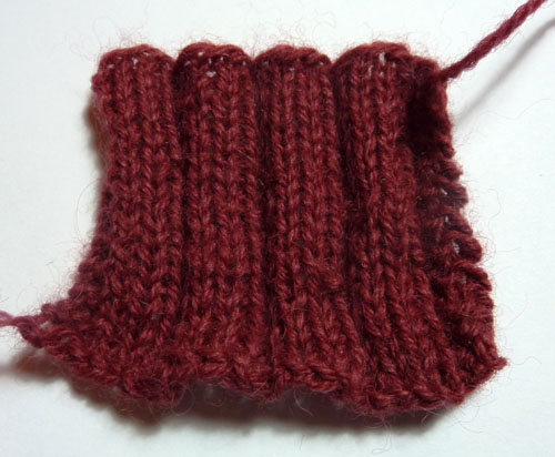 Excelana 4-ply swatch