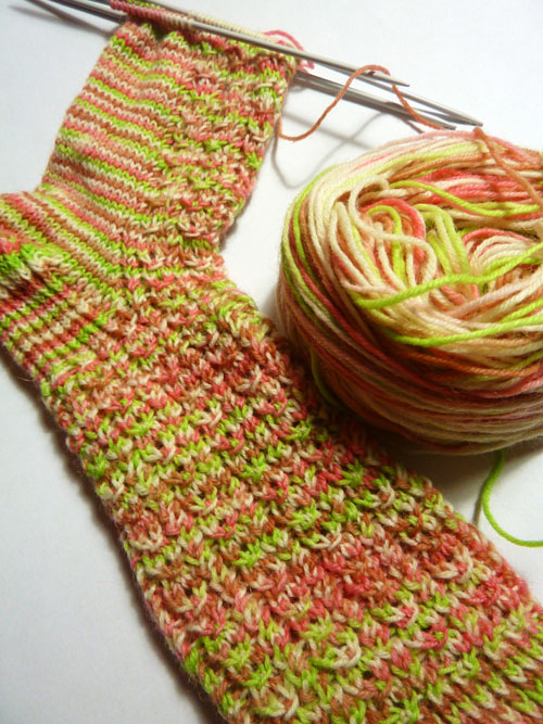 Froot Loop socks WIP